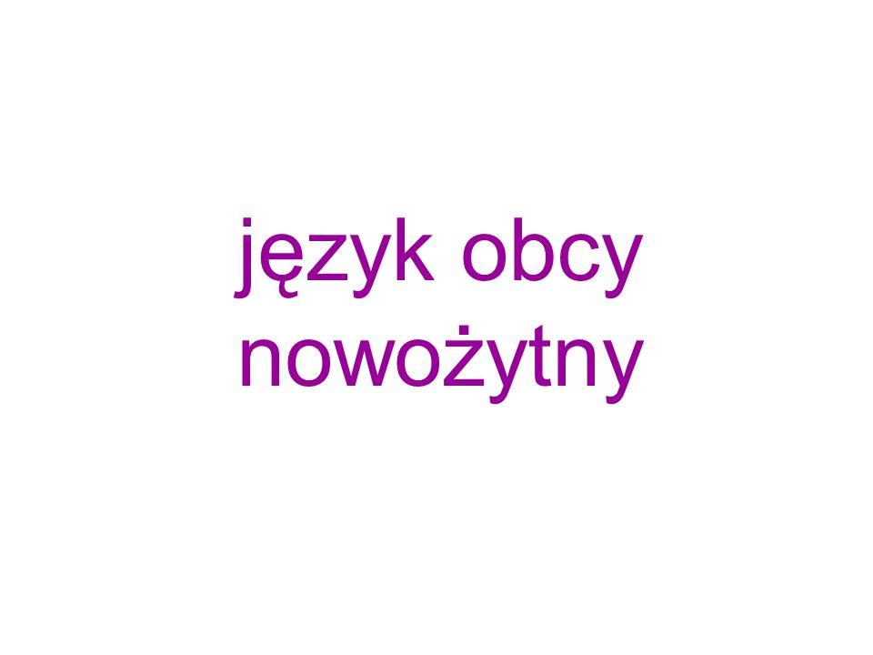 język obcy nowożytny