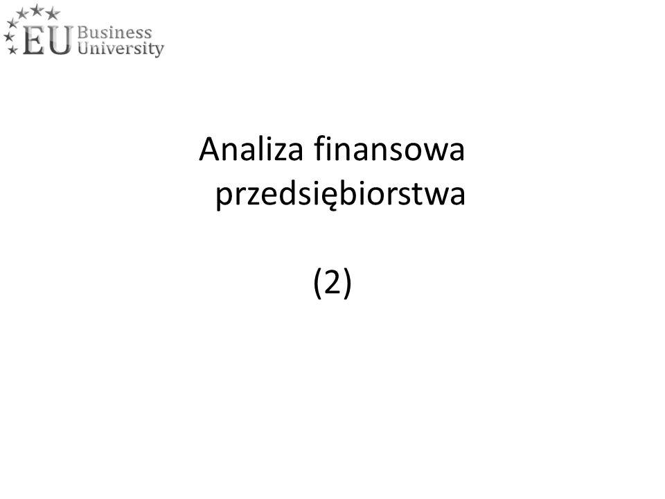 Analiza finansowa przedsiębiorstwa (2)