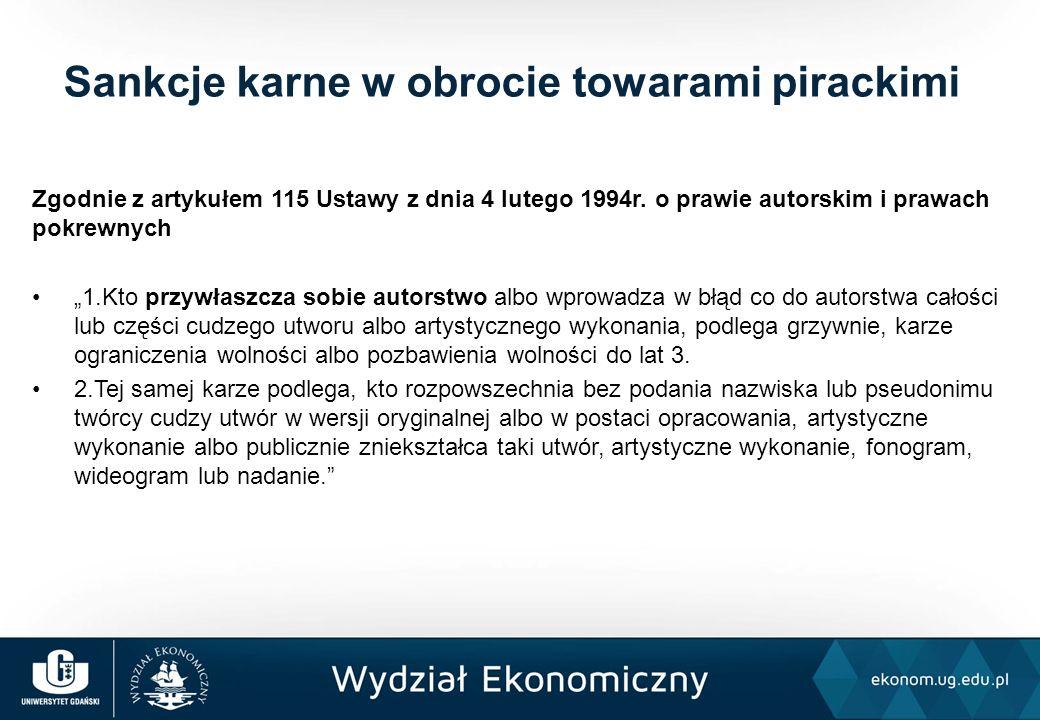 """Zgodnie z artykułem 115 Ustawy z dnia 4 lutego 1994r. o prawie autorskim i prawach pokrewnych """"1.Kto przywłaszcza sobie autorstwo albo wprowadza w błą"""