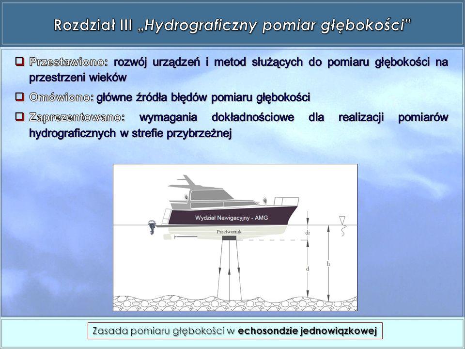 Zasada pomiaru głębokości w echosondzie jednowiązkowej