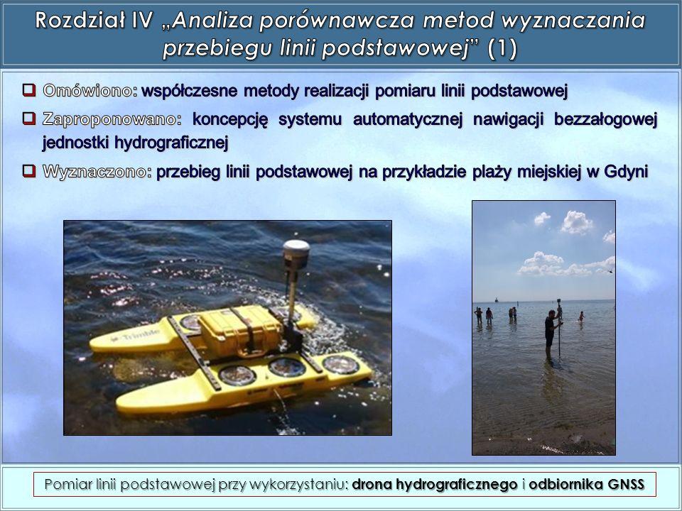 Pomiar linii podstawowej przy wykorzystaniu: drona hydrograficznego i odbiornika GNSS
