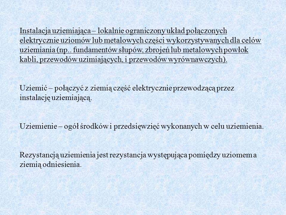 Dopuszczalne napięcia rażeniowe dotykowe wg normy PN-EN 50522: 2011