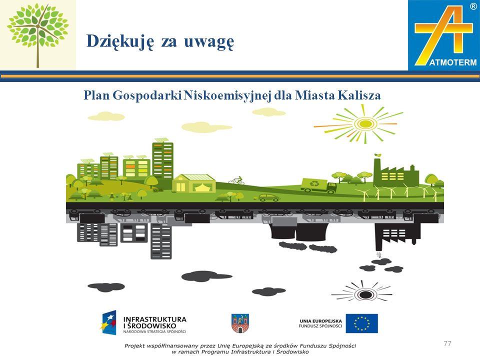Dziękuję za uwagę Plan Gospodarki Niskoemisyjnej dla Miasta Kalisza 77
