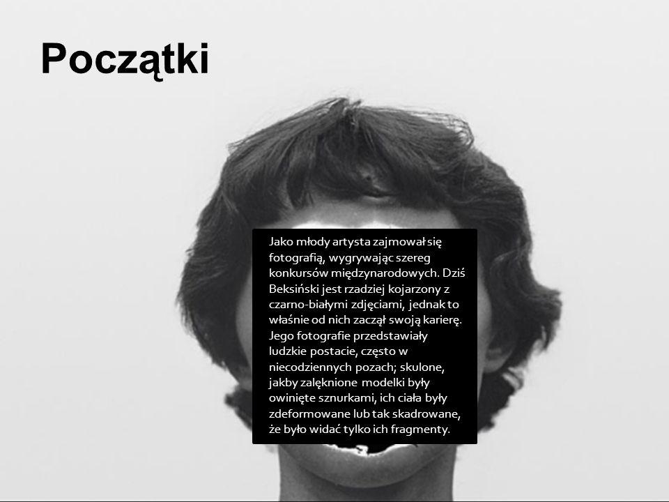 Jako młody artysta zajmował się fotografią, wygrywając szereg konkursów międzynarodowych. Dziś Beksiński jest rzadziej kojarzony z czarno-białymi zdję
