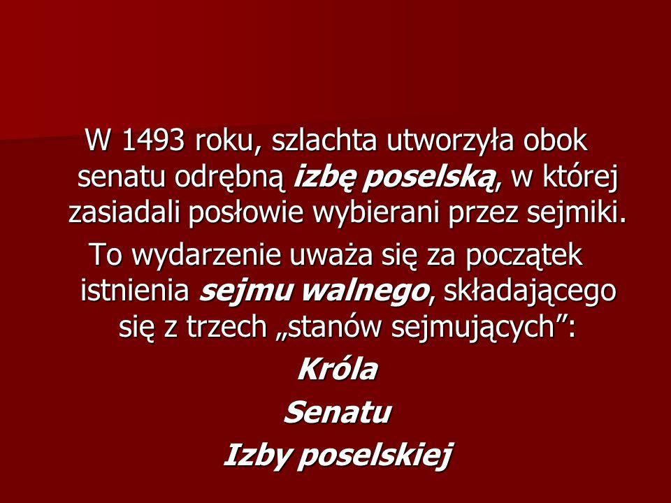 Sejm polski. Król Aleksander Jagiellończyk w otoczeniu senatorów i posłów.