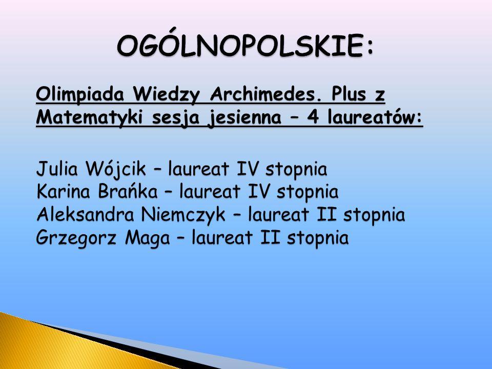 Olimpiada Wiedzy Archimedes.