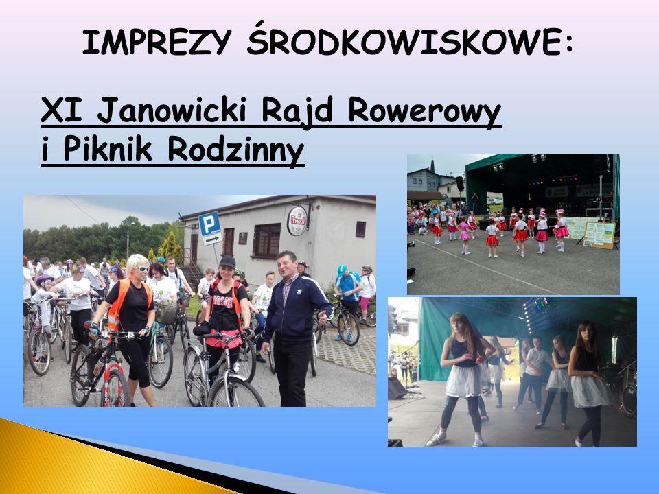 IMPREZY ŚRODKOWISKOWE: XI Janowicki Rajd Rowerowy i Piknik Rodzinny