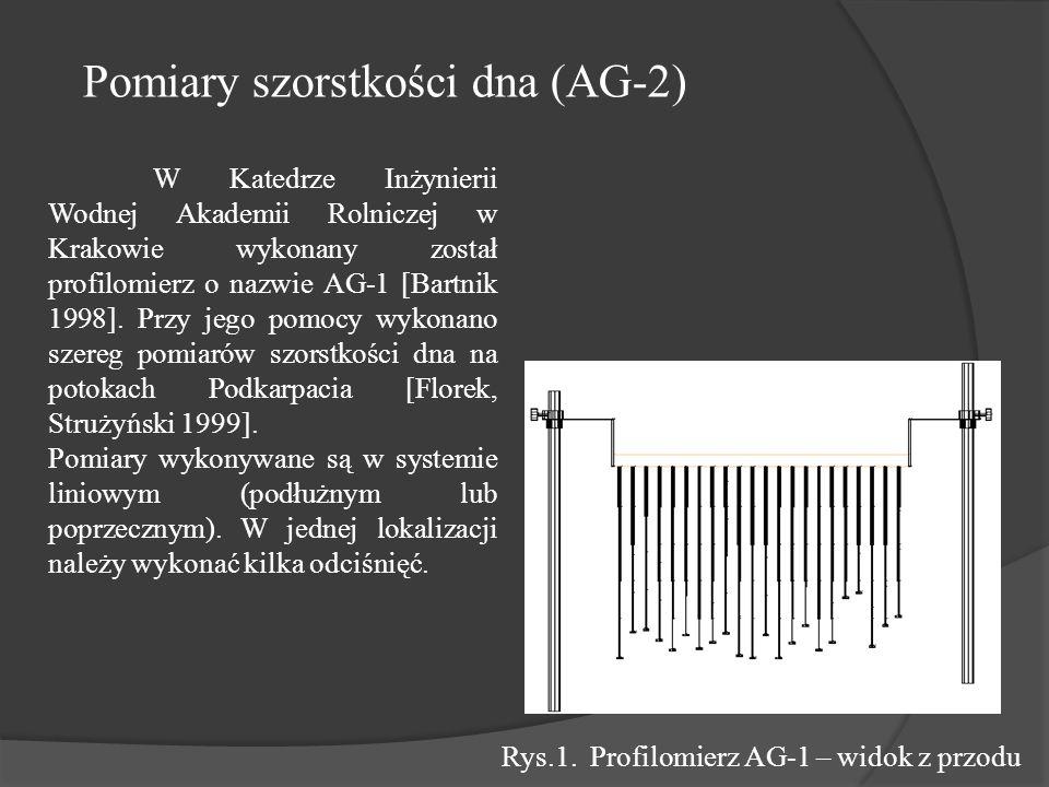 W Katedrze Inżynierii Wodnej Akademii Rolniczej w Krakowie wykonany został profilomierz o nazwie AG-1 [Bartnik 1998].