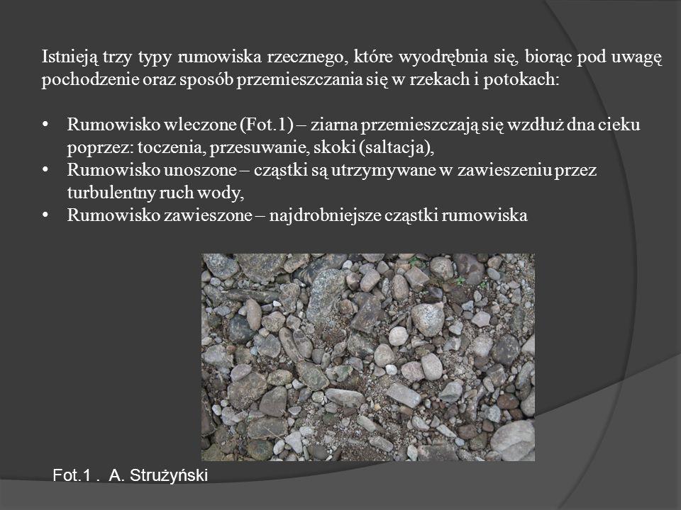 Metoda określenia szorstkości dna (Ag-2) Fot. 5. A Strużyński