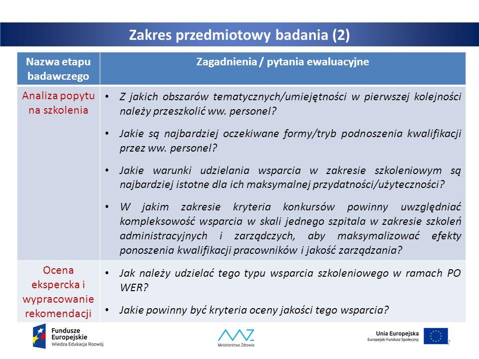 Zalecana tematyka szkoleń – przedstawiciele podmiotów leczniczych Personel zarządzający i administracyjnyPersonel medyczny (pełniący funkcje adm.)  analiza sytuacji placówki i wdrażanie rozwiązań w zakresie efektywności ekonom.