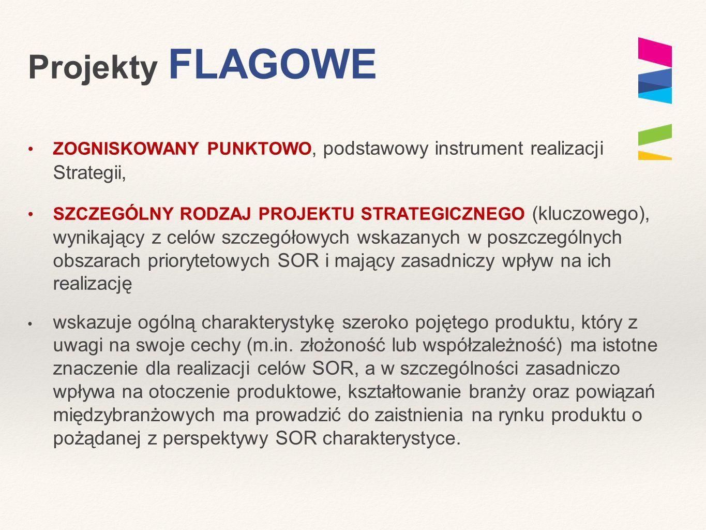 Projekty FLAGOWE ZOGNISKOWANY PUNKTOWO, podstawowy instrument realizacji Strategii, SZCZEGÓLNY RODZAJ PROJEKTU STRATEGICZNEGO (kluczowego), wynikający