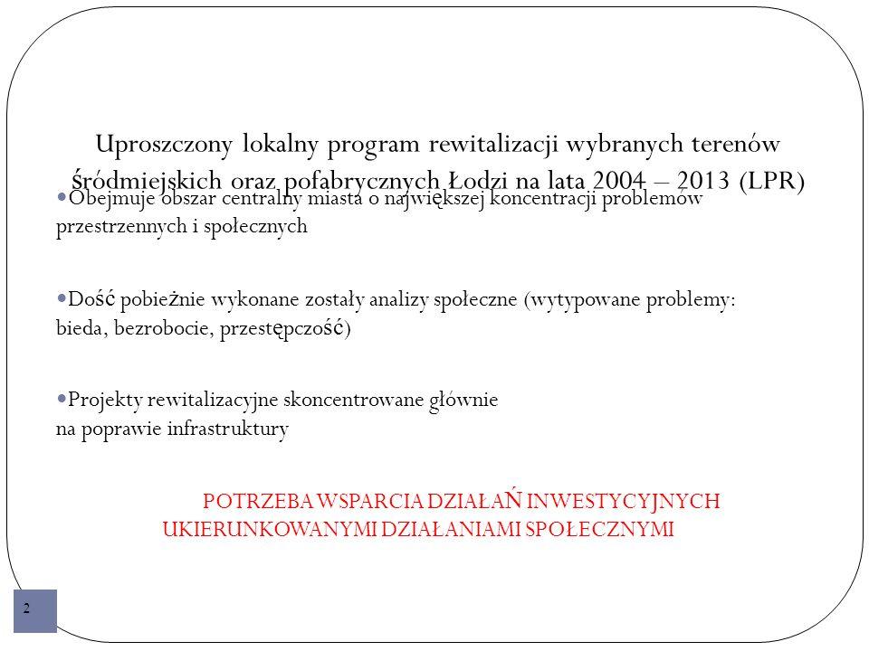 Cele Społecznej Strategii Rewitalizacji 3.
