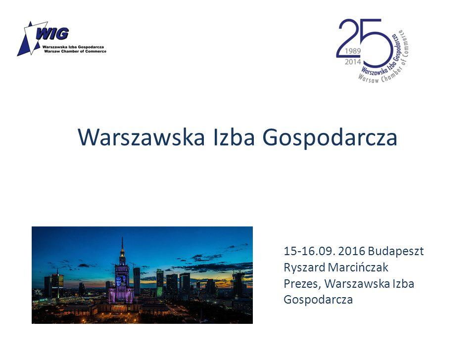 Warszawska Izba Gospodarcza 15-16.09. 2016 Budapeszt Ryszard Marcińczak Prezes, Warszawska Izba Gospodarcza