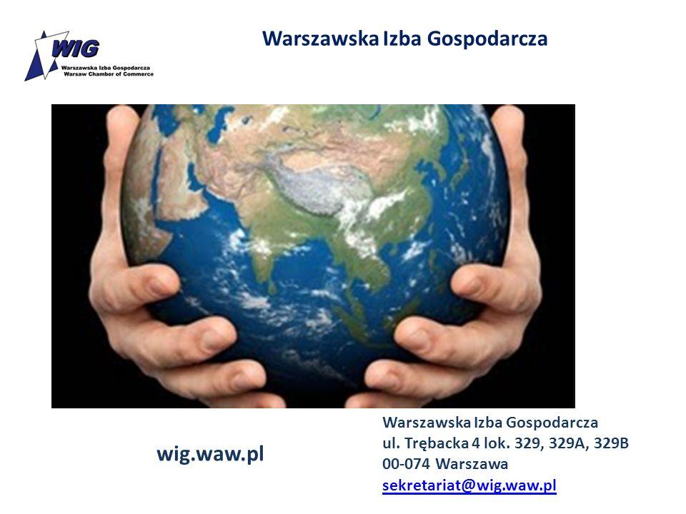 Warszawska Izba Gospodarcza ul. Trębacka 4 lok. 329, 329A, 329B 00-074 Warszawa sekretariat@wig.waw.pl wig.waw.pl