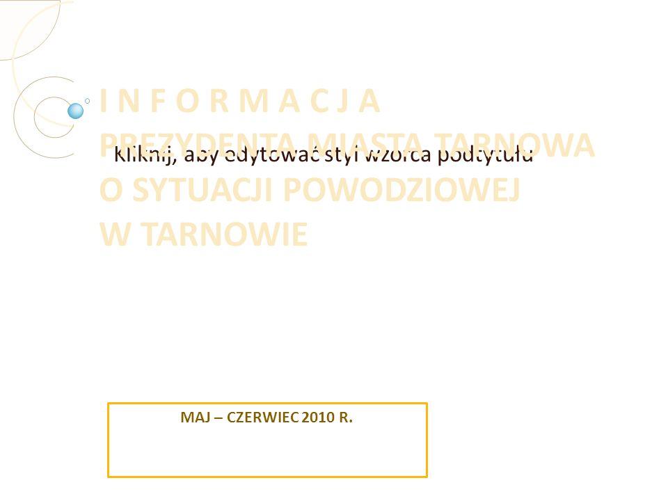 Sytuacja powodziowa od 16 do 24 maja 2010 r. Opady w Tarnowie i regionie