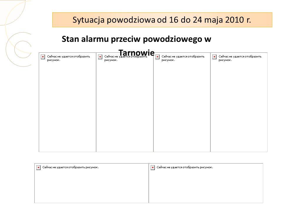 Sytuacja powodziowa od 16 do 24 maja 2010 r. Stan alarmu przeciw powodziowego w Tarnowie