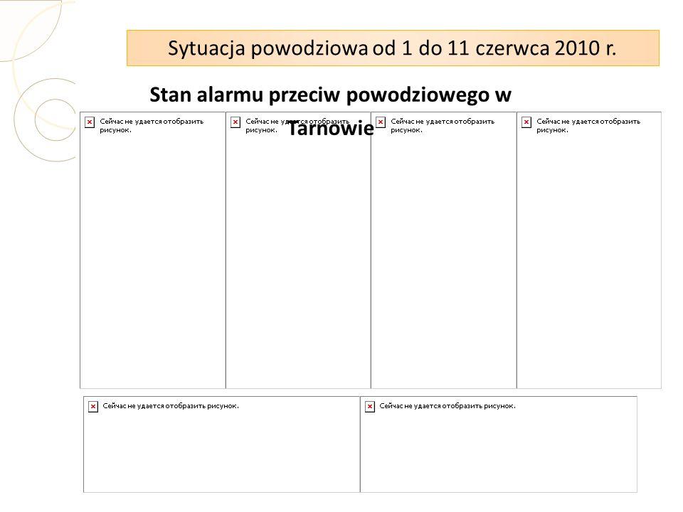 Stan alarmu przeciw powodziowego w Tarnowie Sytuacja powodziowa od 1 do 11 czerwca 2010 r.
