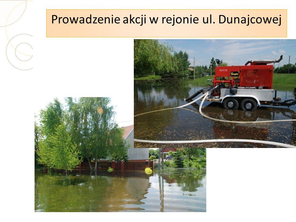 Prowadzenie akcji w rejonie ul. Dunajcowej