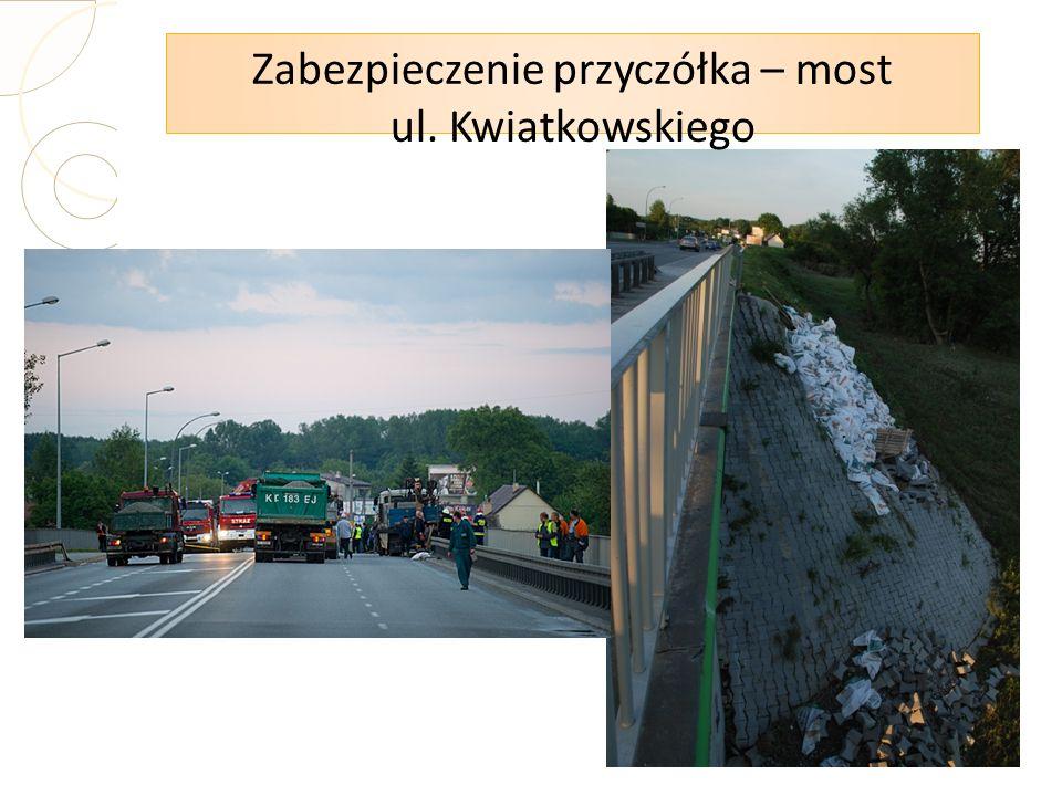 Zabezpieczenie przyczółka – most ul. Kwiatkowskiego