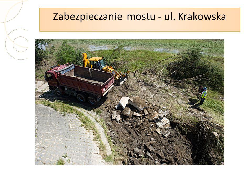 Zabezpieczanie mostu - ul. Krakowska