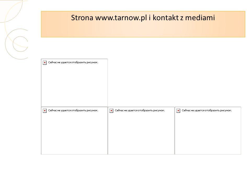 Strona www.tarnow.pl i kontakt z mediami