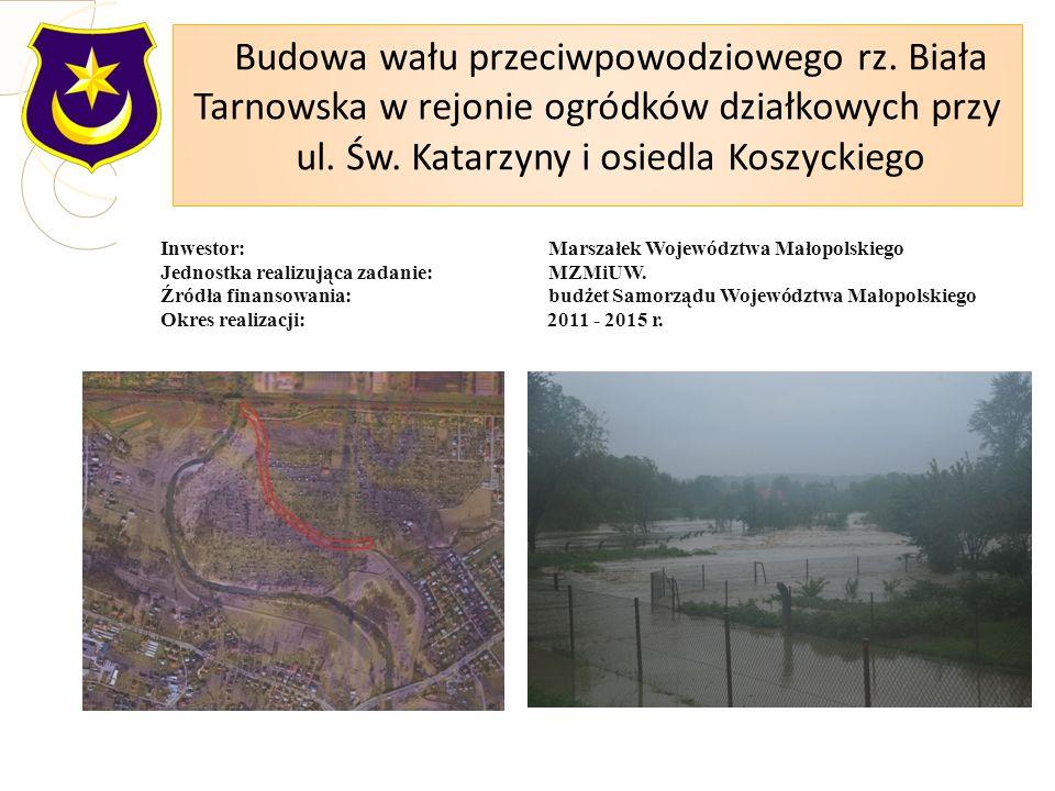 Inwestor: Marszałek Województwa Małopolskiego Jednostka realizująca zadanie: MZMiUW.