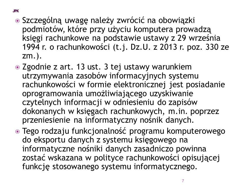  Szczególną uwagę należy zwrócić na obowiązki podmiotów, które przy użyciu komputera prowadzą księgi rachunkowe na podstawie ustawy z 29 września 1994 r.