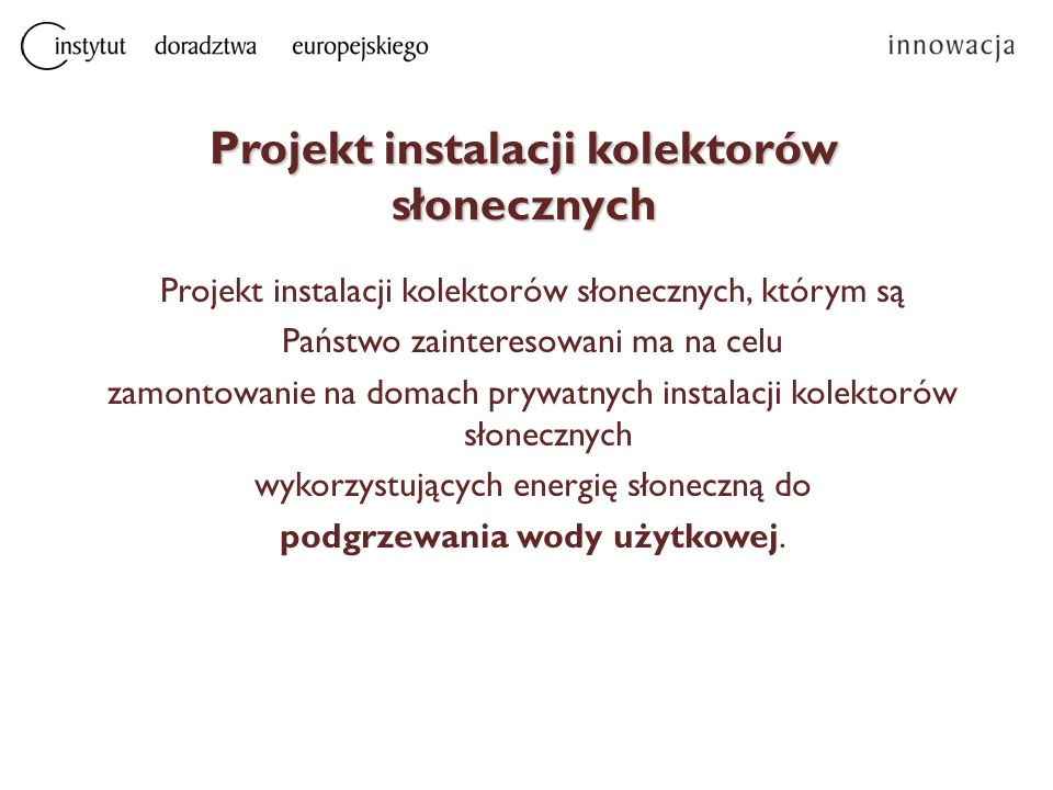 Parametry dla instalacji fotowoltaicznej Przykładowo dla pakietu o mocy 2 kWp  Ilość modułów w instalacji – 6 szt.