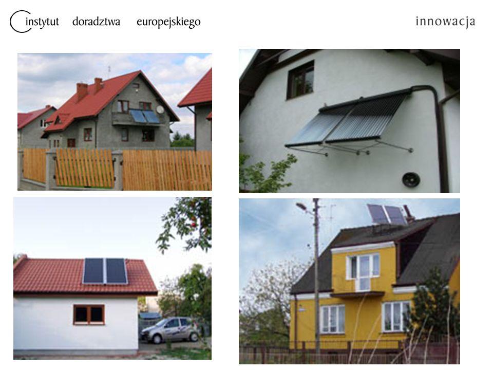 Podstawowe zalety instalacji kolektorów słonecznych Korzyści jakie płyną z zastosowania kolektora słonecznego to brak zanieczyszczonego środowiska i efekt ekonomiczny dla użytkownika Prawidłowo zaprojektowane instalacje kolektorów słonecznych mogą zaoszczędzić min.