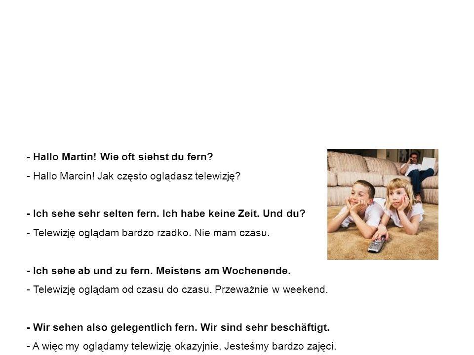 Beispielssätze – Dialog 1 Przykładowe zdania – dialog 1 - Hallo Martin.