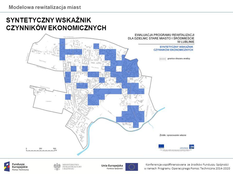 Konferencja współfinansowana ze środków Funduszu Spójności w ramach Programu Operacyjnego Pomoc Techniczna 2014-2020 Modelowa rewitalizacja miast SYNTETYCZNY WSKAŹNIK CZYNNIKÓW EKONOMICZNYCH