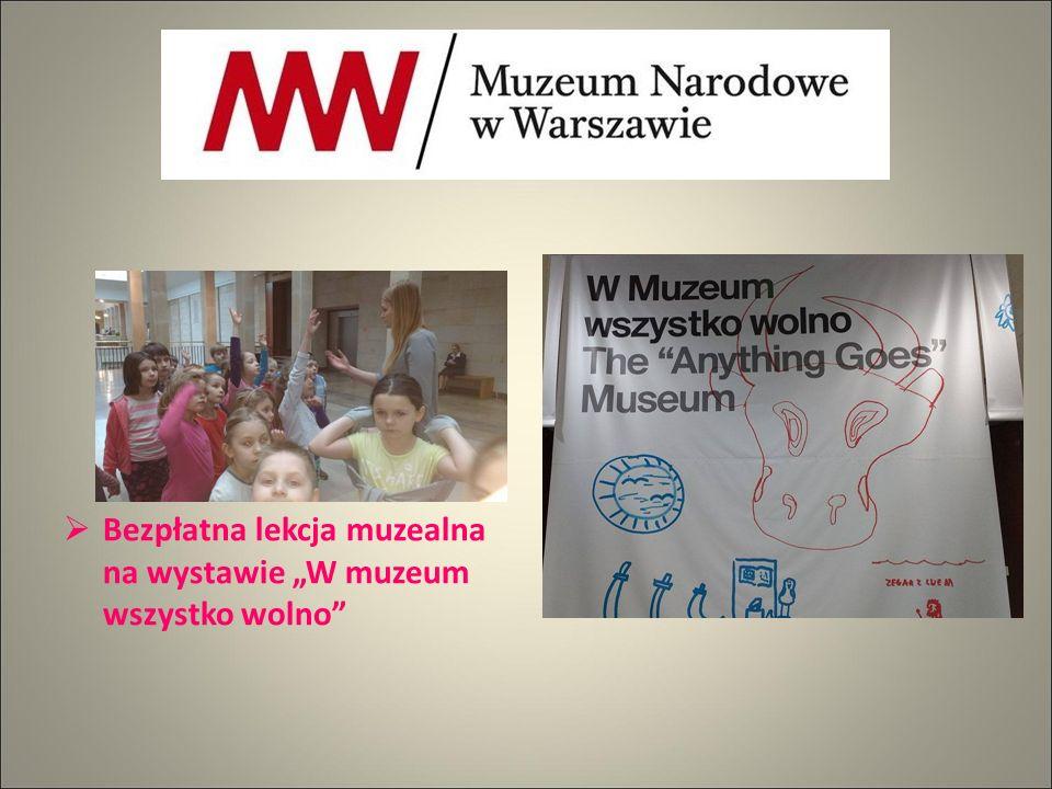 """ Bezpłatna lekcja muzealna na wystawie """"W muzeum wszystko wolno"""