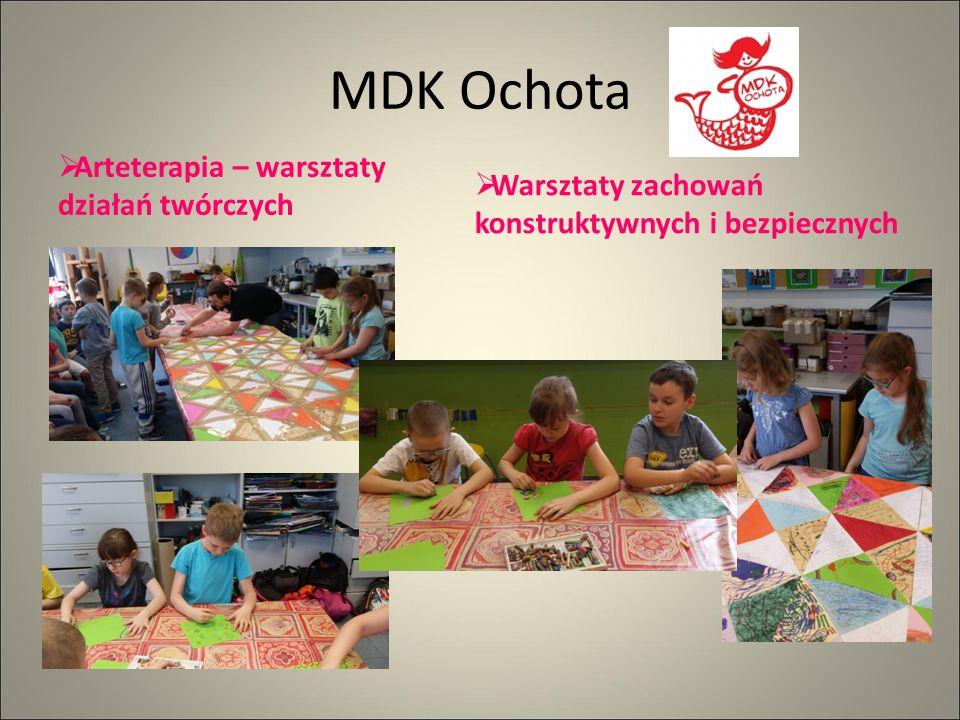 MDK Ochota  Arteterapia – warsztaty działań twórczych  Warsztaty zachowań konstruktywnych i bezpiecznych