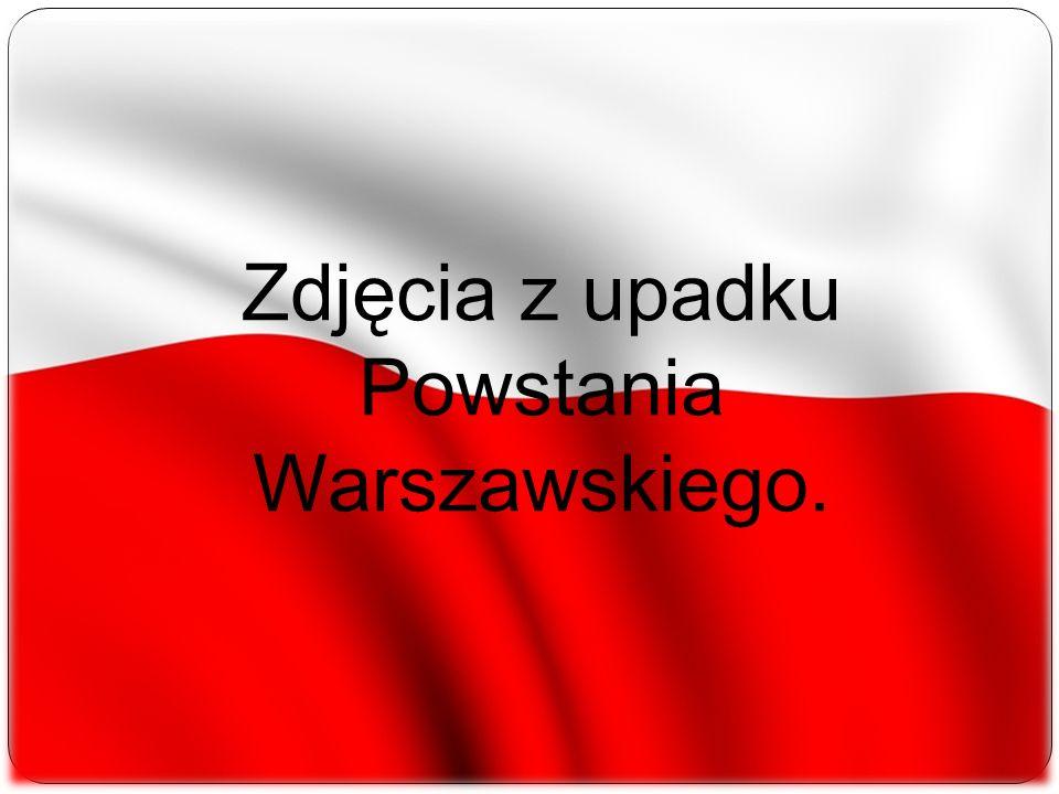 Zdjęcia z upadku Powstania Warszawskiego.