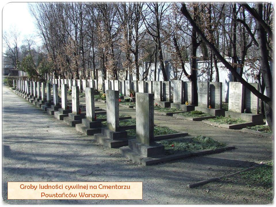 Groby ludno ś ci cywilnej na Cmentarzu Powsta ń ców Warszawy.