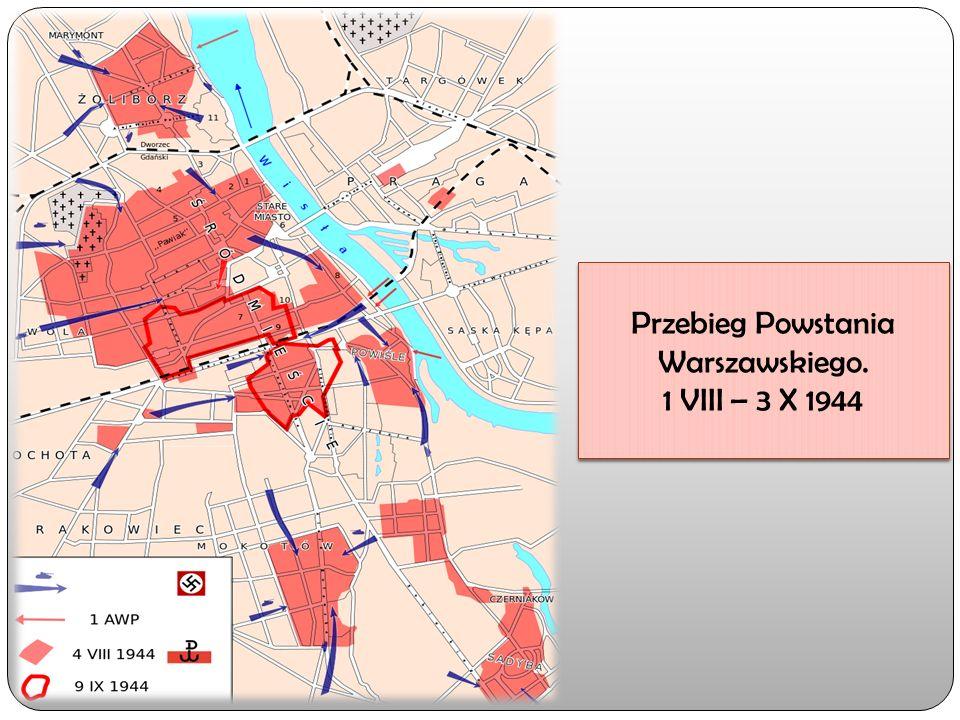 Przebieg Powstania Warszawskiego. 1 VIII – 3 X 1944 Przebieg Powstania Warszawskiego.
