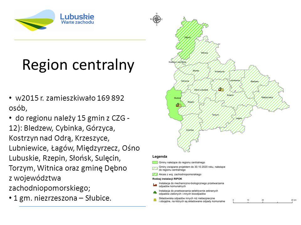 Region centralny w2015 r.
