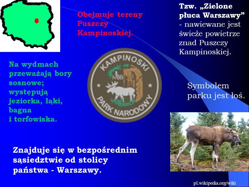 Obejmuje tereny Puszczy Kampinoskiej. Tzw.