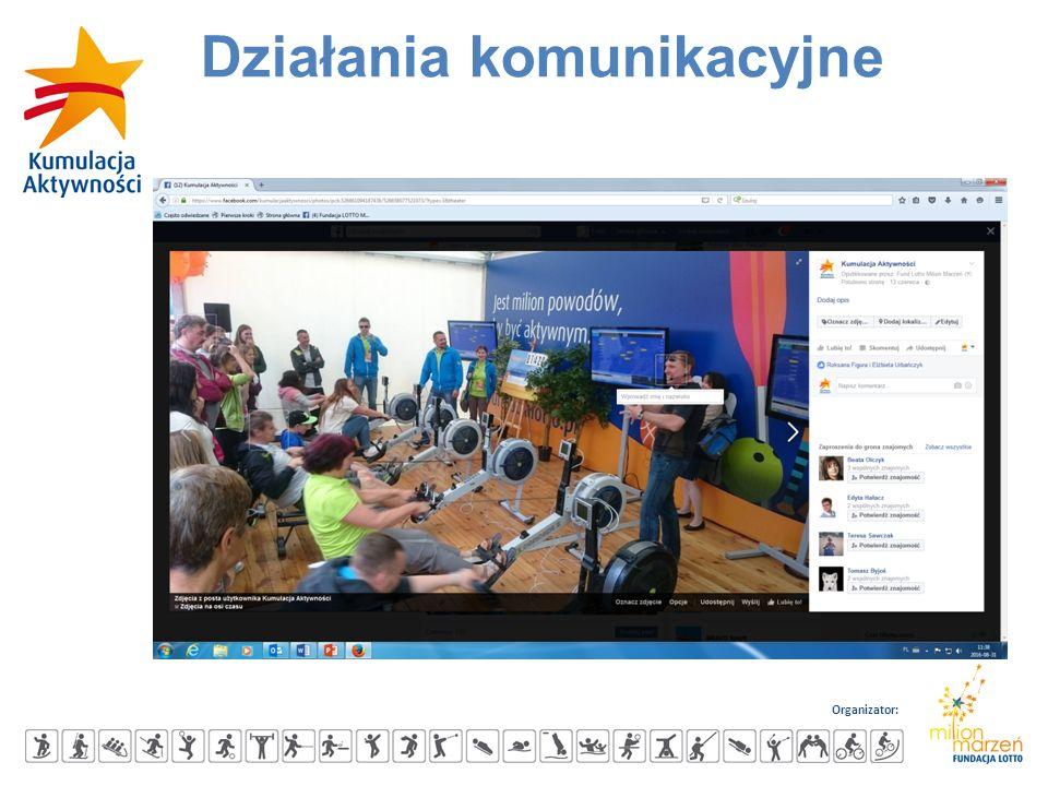 Organizator: Działania komunikacyjne