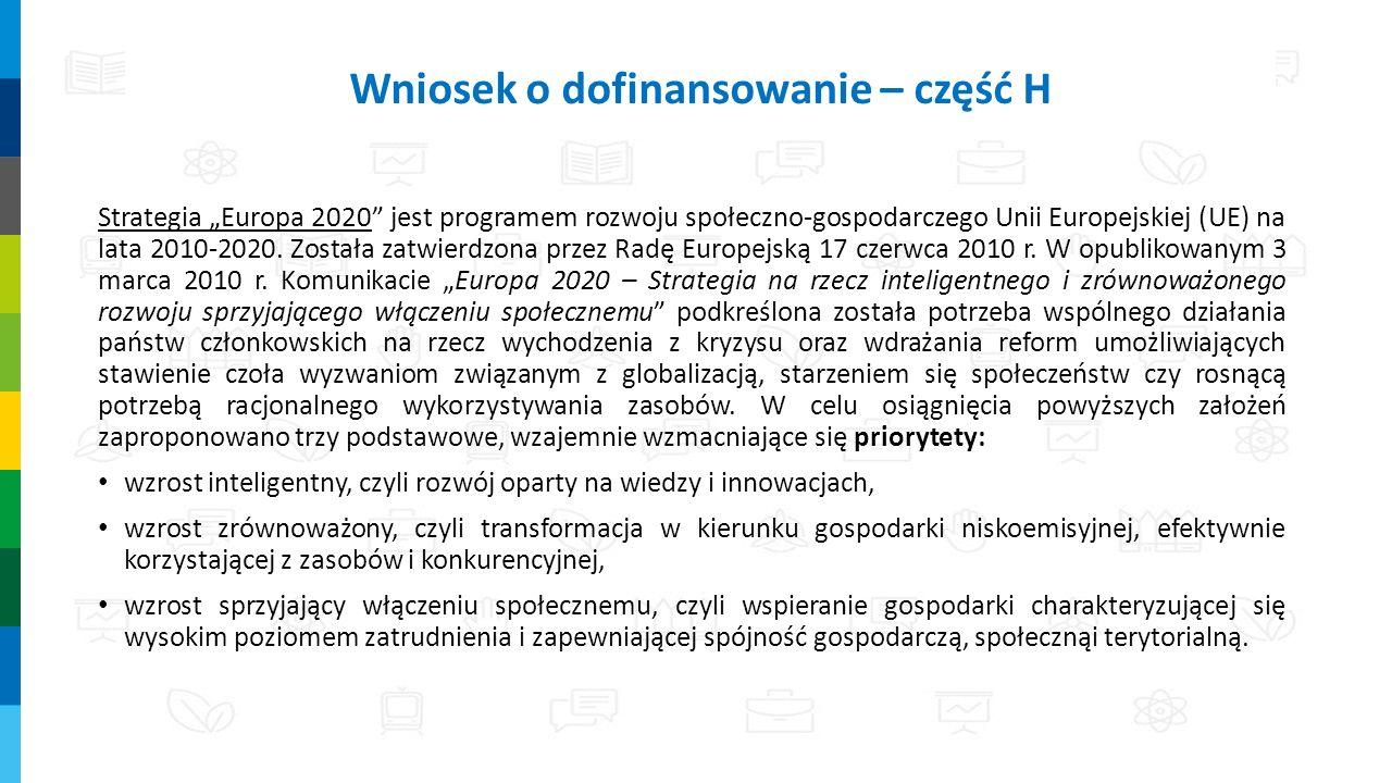 """Strategia """"Europa 2020 jest programem rozwoju społeczno-gospodarczego Unii Europejskiej (UE) na lata 2010-2020."""