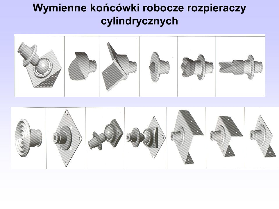 Wymienne końcówki robocze rozpieraczy cylindrycznych