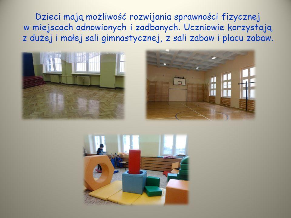 Dzieci mają możliwość rozwijania sprawności fizycznej w miejscach odnowionych i zadbanych.
