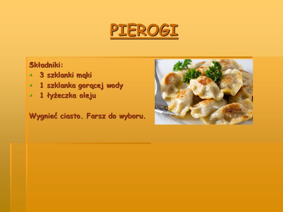 PIZZA Składniki:  4 dekagramy drożdży  1 jajko  2 szklanki mąki  ¼ kostki margaryny  ½ szklanki mleka Drożdże rozpuść w szklance z mlekiem z łyżeczką cukru.