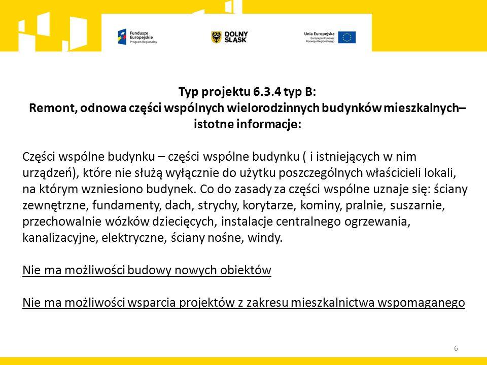 17 Kryteria oceny zgodności projektów ze strategią ZIT AW Dla naborów skierowanych do ZIT AW – 33 pkt.
