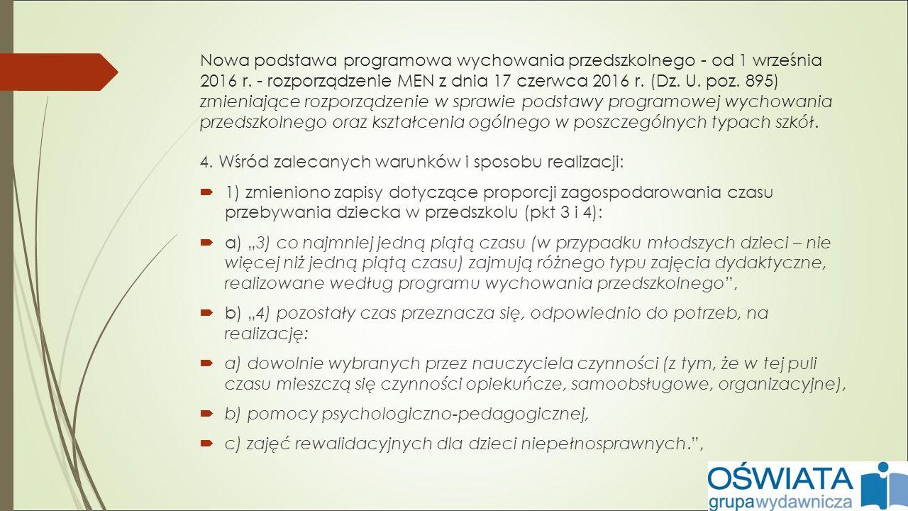 Nowa podstawa programowa wychowania przedszkolnego - od 1 września 2016 r.
