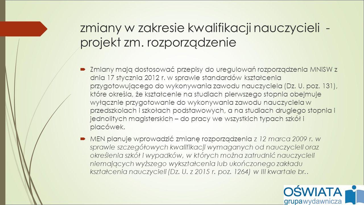zmiany w statusie dyrektora od 1 września 2016 r.– ustawa o systemie oświaty (Dz.