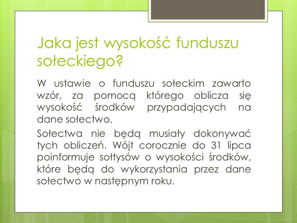 Kto decyduje o wyodrębnieniu w budżecie gminy środków stanowiących fundusz sołecki.