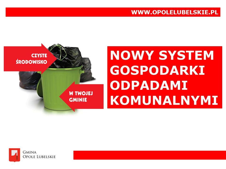 NOWY SYSTEM GOSPODARKI ODPADAMI KOMUNALNYMI WWW.OPOLELUBELSKIE.PL