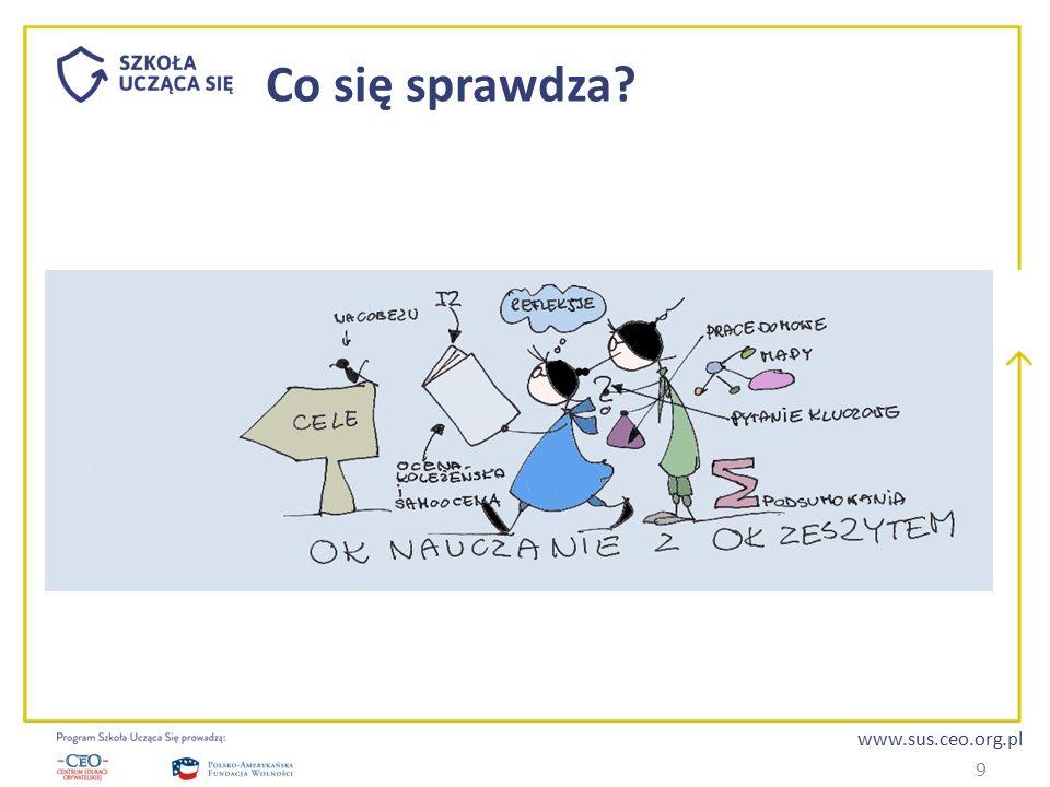 www.sus.ceo.org.pl Co się sprawdza.Możliwość wyboru zarówno przez nauczyciela, jak i ucznia.