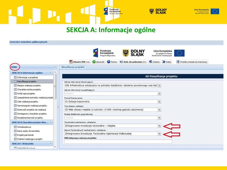 SEKCJA A: Informacje ogólne